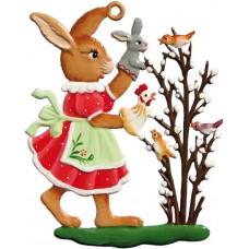 Wilhelm Schweizer Easter Oster Pewter Bunny Puppet Show