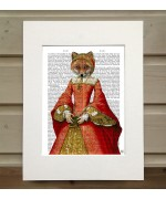Fox Queen FabFunky Book Print