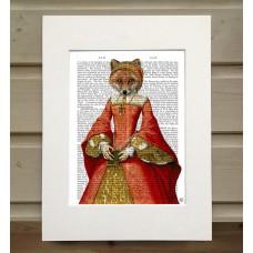 Fox Queen FabFunky Book Print