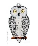 Snowy Owl Hanging Ornament Wilhelm Schweizer
