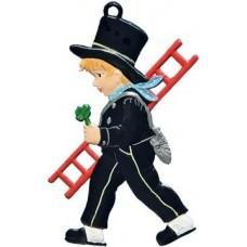 Boy with Ladder and Clover Hanging Ornament Wilhelm Schweizer