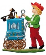 Little Organ Grinder Christmas Pewter Wilhelm Schweizer