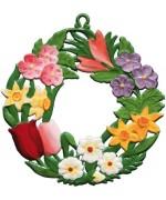 Wilhelm Schweizer Easter Oster Pewter Spring Wreath