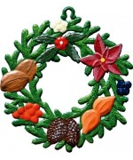 Wilhelm Schweizer Easter Oster Pewter Winter Wreath