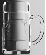 TEMPORARILY OUT OF STOCK - Glass Lederhosen 0.5 L Beer Stein
