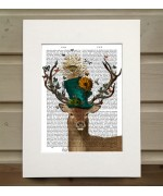 Mad Hatter Deer FabFunky Book Print