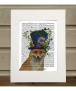 Mad Hatter Fox FabFunky Book Print