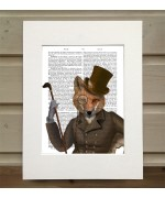 The Bounder Fox FabFunky Book Print