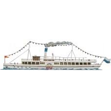 Dampfer Herrsching Steamboat Standing Pewter Wilhelm Schweizer