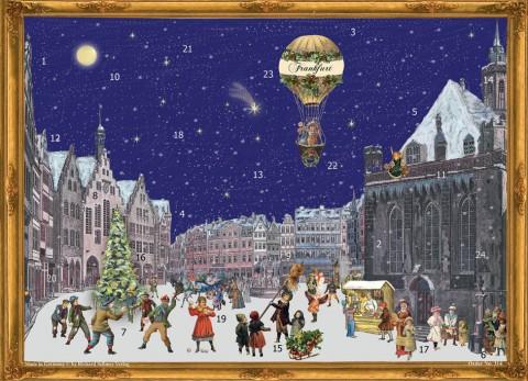 Old German Paper Advent Calendar Frankfurt