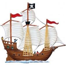 Pirate Ship Standing Pewter Wilhelm Schweizer