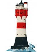 Leuchturm Roter Sand Standing Pewter Wilhelm Schweizer