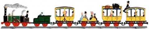First German Train ADLER Standing Pewter Wilhelm Schweizer
