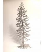 Wilhelm Schweizer Unpainted Pewter Fichte Tree