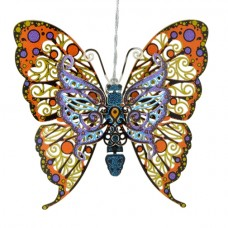 Vibrant Butterfly Chem Art