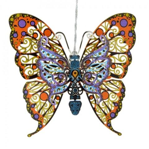 Vibrant Butterfly Chem Art