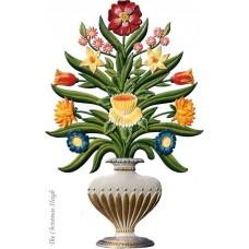 Flower Arrangement in Standing Vase Bouquet Standing Pewter Wilhelm Schweizer