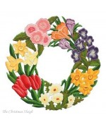 Large Spring Wreath Window Wall Hanging Wilhelm Schweizer