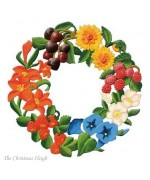 Large Summer Wreath Window Wall Hanging Wilhelm Schweizer