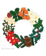 Large Winter Wreath Window Wall Hanging Wilhelm Schweizer