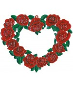 Rose Heart Window Wall Hanging Wilhelm Schweizer