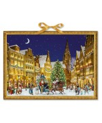 TEMPORARILY OUT OF STOCK - Coppenrath German Paper Advent Calendar - German Town at Christmas