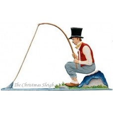 The Fisherman Carl Spitzweg Standing Pewter Wilhelm Schweizer