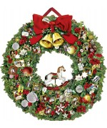 Coppenrath German Paper Advent Calendar Victorian Christmas Wreath