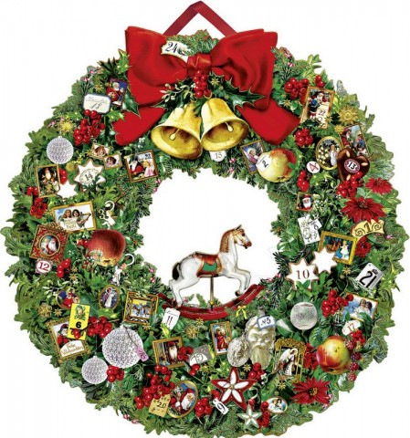 Coppenrath German Paper Advent Calendar Victorian Christmas Wreath - TEMPORARILY OUT OF STOCK