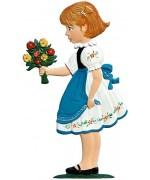 Flower Girl Congratulations Standing Pewter Wilhelm Schweizer