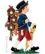 Black Forest The Little Clock Man Standing Pewter Wilhelm Schweizer