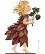 Autumn Fairy Standing Pewter Wilhelm Schweizer