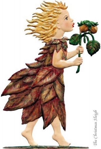 Autumn Fairy Standing Pewter Wilhelm Schweizer - TEMPORARILY OUT OF STOCK