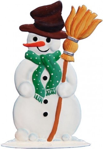 Snowman with Broom Christmas Pewter Wilhelm Schweizer - TEMPORARILY OUT OF STOCK