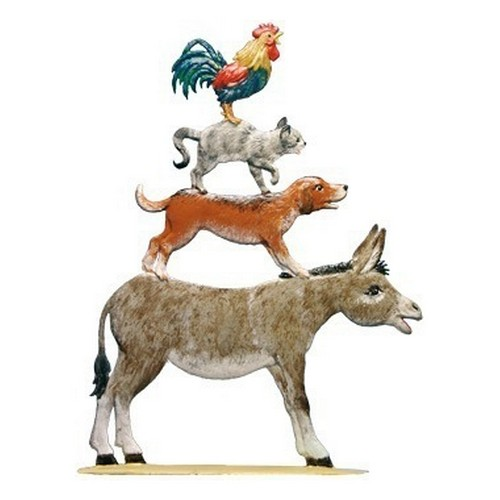 Story Of Donkey Dog Cat Rooster