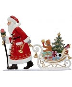 Santa Pulling Sleigh with Toys Anno 1995 Christmas Pewter Wilhelm Schweizer