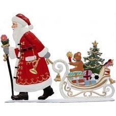 Santa Pulling Sleigh with Toys Anno 1995 Christmas Pewter Wilhelm Schweizer