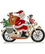 Santa on Motorcycle Anno 1997 Christmas Pewter Wilhelm Schweizer