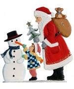 Santa Child Snowman Anno 1998 Christmas Pewter Wilhelm Schweizer