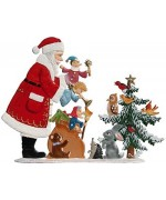 Santa with Sack of Toys Anno 1999 Christmas Pewter Wilhelm Schweizer