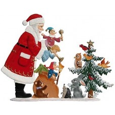 Santa with Sack of Toys Anno 1999 Christmas Pewter Wilhelm Schweizer - TEMPORARILY OUT OF STOCK