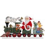 Santa's Locomotive Anno 2000 Christmas Pewter Wilhelm Schweizer