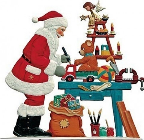 Santa's Toy Shop Anno 2002 Christmas Pewter Wilhelm Schweizer