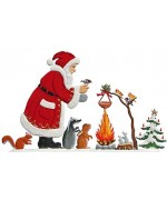 Santa Campfire Anno 2007 Christmas Pewter Wilhelm Schweizer - TEMPORARILY OUT OF STOCK