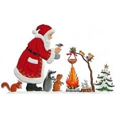 Santa Campfire Anno 2007 Christmas Pewter Wilhelm Schweizer