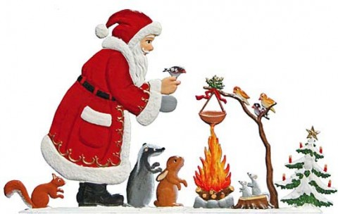 TEMPORARILY OUT OF STOCK - Santa Campfire Anno 2007 Christmas Pewter Wilhelm Schweizer