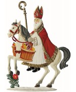 St. Nick on his Steed Christmas Pewter Wilhelm Schweizer