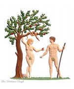 Adam & Eve Standing Pewter Wilhelm Schweizer