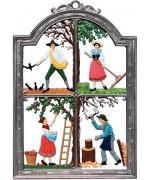 Four Seasons Window Wall Hanging Wilhelm Schweizer