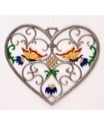 Butterfly Heart Window Wall Hanging Wilhelm Schweizer